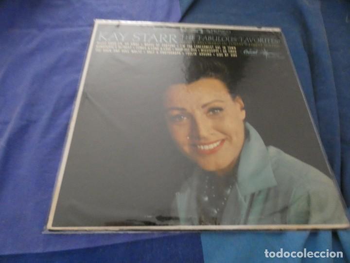 LP USA 1964 BUEN ESTADO KAY STARR THE FABULOUS FAVORITES (Música - Discos - LP Vinilo - Cantautores Extranjeros)
