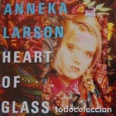 Discos de vinilo: ANNEKA LARSON - HEART OF GLASS ( WHO´S THAT GIRL-MIX ) - MAXI-SINGLE GERMANY 1990. Lote 193829188