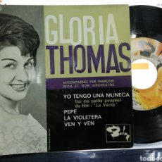 Discos de vinilo: GLORIA THOMAS EP YO TENGO UNA MUÑECA + 3 FRANCIA 1960. Lote 193829822
