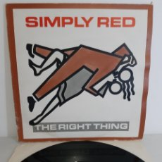 Discos de vinilo: SIMPLY RED. THE RIGHT THINGS. WEA. MAXISINGLE. SPAIN. 1987. Lote 193833216