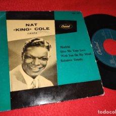 Discos de vinilo: NAT KING COLE MADRID/GIVE ME YOUR LOVE/RAINTREE COUNTY +1 EP 195? CAPITOL ESPAÑA SPAIN. Lote 193833715