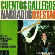 Discos de vinilo: R2 - CUENTOS GALLEGOS. NARRADOR. O XESTAL. MARIA ROSA. A SOGRA. O RAPAS. 1962. GALICIA. EP. VINILO. Lote 193840766