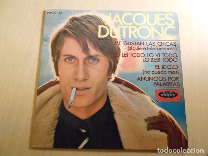 JACQUES DUTRONC, EP, ME GUSTAN LAS CHICAS + 3, AÑO 1967 (Música - Discos de Vinilo - Maxi Singles - Canción Francesa e Italiana)