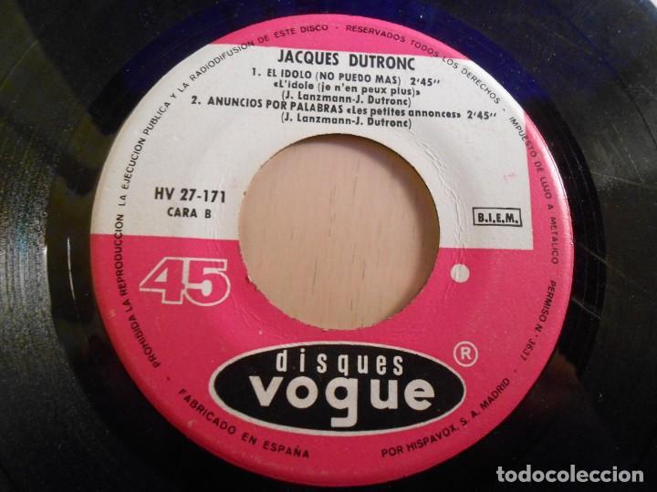 Discos de vinilo: JACQUES DUTRONC, EP, ME GUSTAN LAS CHICAS + 3, AÑO 1967 - Foto 4 - 193842072
