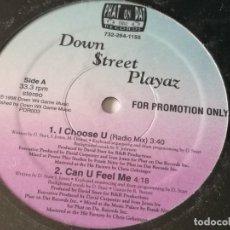 Discos de vinilo: DOWN $TREET PLAYAZ - I CHOOSE U / CAN U FEEL ME / GAME BY DA OUNCE / DOWN & DANGEROUS - 1998. Lote 193856267