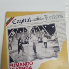 Discos de vinilo: CAPÌTAL LETTERS FUMANDO MI YERBA SMOKING MY GANJA / UNEMPLOYED ( 1981 GREENSLEEVES ESPAÑA ). Lote 193858502