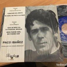 Discos de vinilo: PACO IBAÑEZ (CANCION DEL JINETE +3) EP ESPAÑA 1969 (EPI15). Lote 193861813