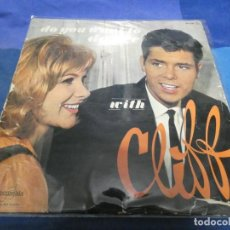 Discos de vinilo: LP FRANCES MUY ANTIGUO DO YOU WANT TO DANCE WITH CLIFF RICHARD FPX 254 ACUSA MUCHO USO RARO. Lote 193874363