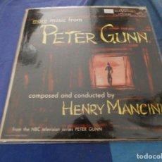 Disques de vinyle: HENRY MANCINI MORE MUSIC FROM PETER GUNN USA 1959 ESTADO ACEPTABLE. Lote 193875316