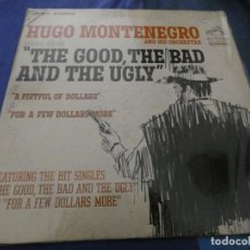 Discos de vinilo: LP HUGO MONTENEGRO THE GOOD THE BAND AND THE UGLY LABEL NARANJA RCA DYNAGROOVE. Lote 193875637