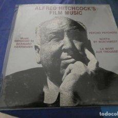 Disques de vinyle: ALFRED HITCHCOOCK FILM MUSIC LP AMERICANO AÑOS 70 BUEN ESTADO. Lote 193875918