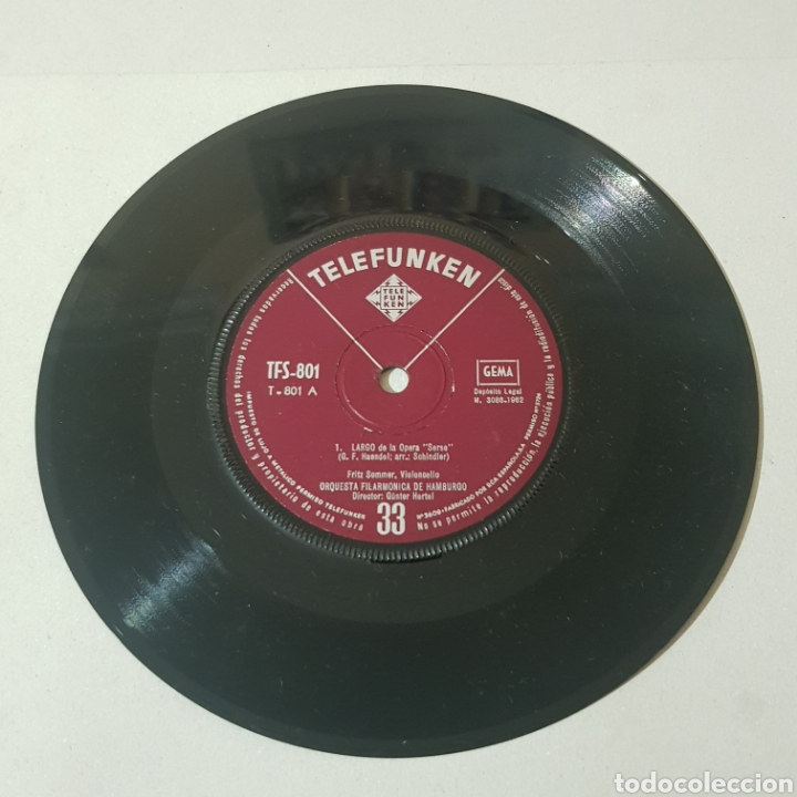 Discos de vinilo: LARGO DE LA OPERA SERSE ( HANDEL ) - MEDITACION DE LA OPERA THAIS ( MASSENET ) ... - Foto 3 - 193877766