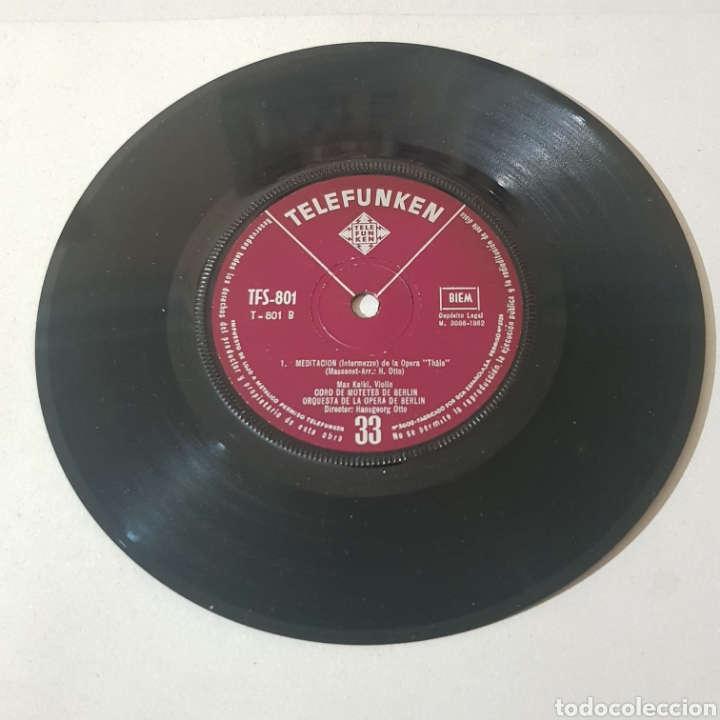 Discos de vinilo: LARGO DE LA OPERA SERSE ( HANDEL ) - MEDITACION DE LA OPERA THAIS ( MASSENET ) ... - Foto 4 - 193877766