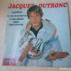 Discos de vinilo: JACQUES DUTRONC, EP, LA PUBLICITÉ + 3, AÑO 1967 MADE IN FRANCE. Lote 193878002