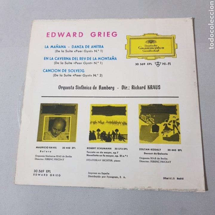 Discos de vinilo: EDWARD GRIEG - LA MAÑANA - DANZA DE ANTIRA - SINFONICA DE BANBERG - RICHARD KRAUS - Foto 2 - 193878377