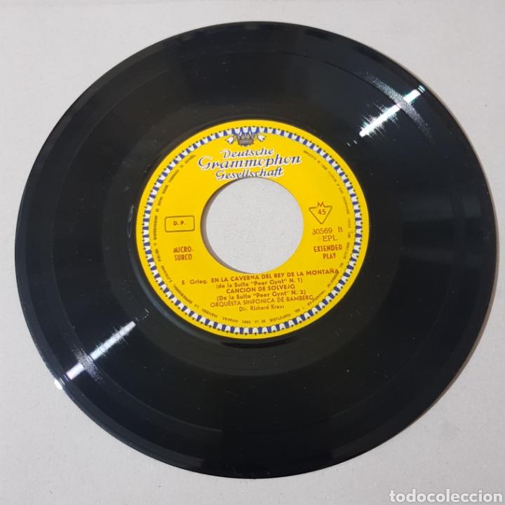 Discos de vinilo: EDWARD GRIEG - LA MAÑANA - DANZA DE ANTIRA - SINFONICA DE BANBERG - RICHARD KRAUS - Foto 3 - 193878377