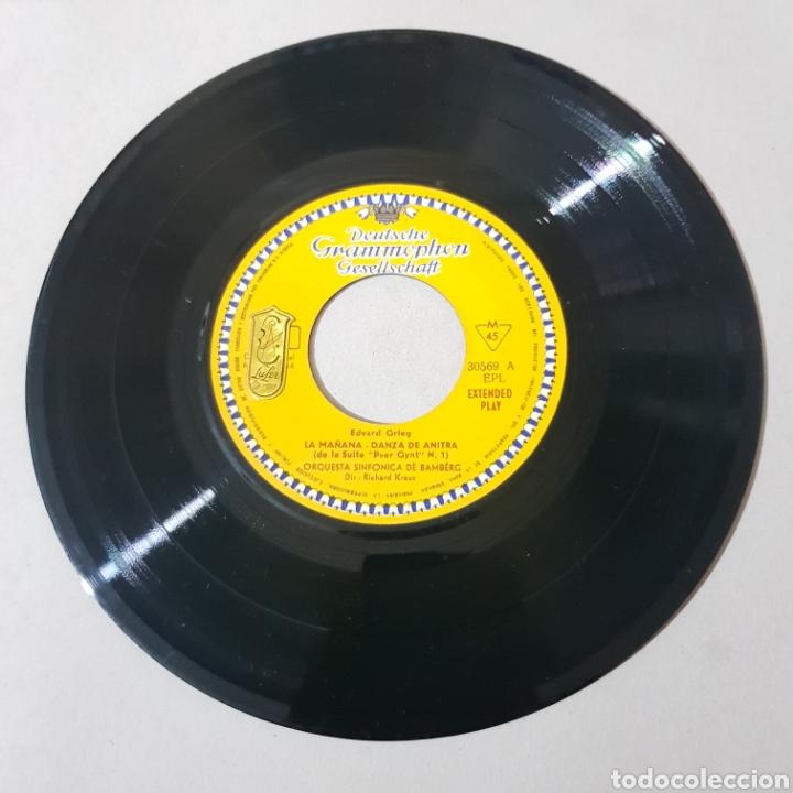Discos de vinilo: EDWARD GRIEG - LA MAÑANA - DANZA DE ANTIRA - SINFONICA DE BANBERG - RICHARD KRAUS - Foto 4 - 193878377