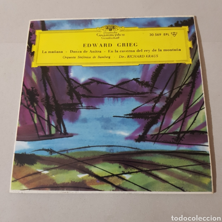 Discos de vinilo: EDWARD GRIEG - LA MAÑANA - DANZA DE ANTIRA - SINFONICA DE BANBERG - RICHARD KRAUS - Foto 5 - 193878377