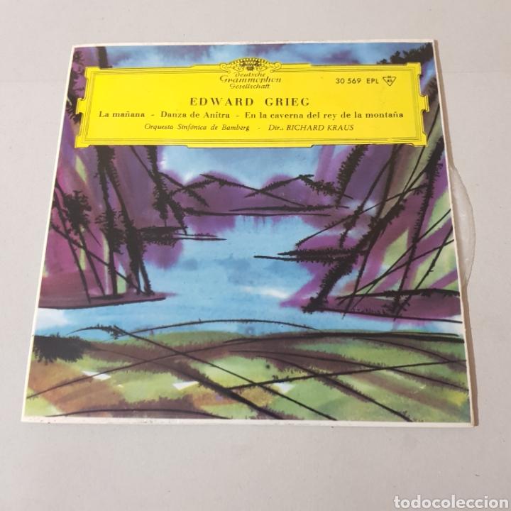 EDWARD GRIEG - LA MAÑANA - DANZA DE ANTIRA - SINFONICA DE BANBERG - RICHARD KRAUS (Música - Discos - Singles Vinilo - Clásica, Ópera, Zarzuela y Marchas)