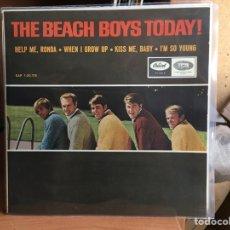 Discos de vinilo: THE BEACH BOYS - HELP ME, RONDA / WHEN I GROW UP / KISS ME, BABY / I'M SO YOUNG (EP) (D:NM/C:NM). Lote 193881448