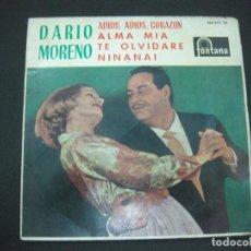 Discos de vinilo: DARIO MORENO. ADIOS, ADIOS CORAZON + 3. EP 1963. Lote 193884955