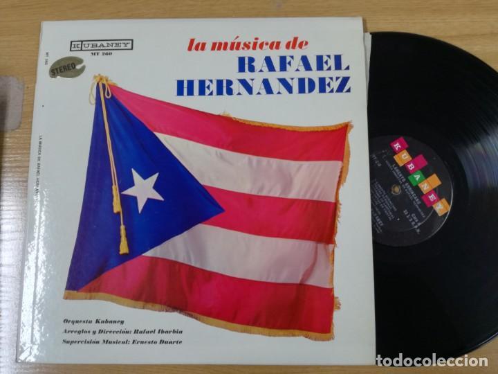 LA MUSICA DE RAFAEL HERNANDEZ LP (Música - Discos de Vinilo - EPs - Grupos y Solistas de latinoamérica)