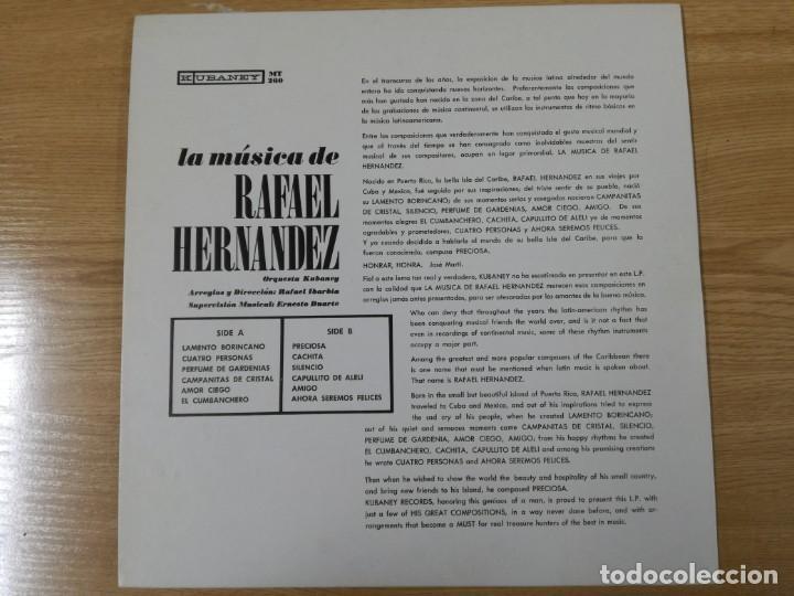 Discos de vinilo: LA MUSICA DE RAFAEL HERNANDEZ LP - Foto 2 - 193885618
