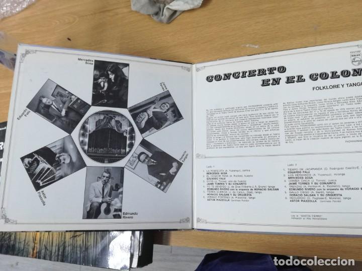 Discos de vinilo: Concierto En El Colon (Folklore Y Tango) LP MUY RARO ARGENTINO - Foto 2 - 193886107