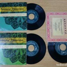 Discos de vinilo: 3 SINGLES DE LAS HERMANAS FLAMARIQUE.JOTAS NAVARRAS. Lote 193888587