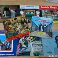 Discos de vinilo: 8 SINGLES DE JOTAS NAVARRAS.HERMANOS ANOZ,JUAN NAVARRO,JESUS GARRAZA,RONDALLA BIDASOA.... Lote 193888816