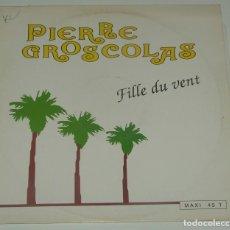 Discos de vinilo: PIERRE GROSCOLAS - FILLE DU VENT - TREMA 1971 FRANCE. Lote 193912325