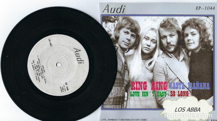 ABBA MEGA RARE EP FROM CUBA RING RING / HASTA MAÑANA / LOVE ISN´T EASY / SO LONG (Música - Discos de Vinilo - EPs - Pop - Rock Extranjero de los 70)