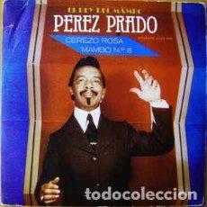 Discos de vinilo: PEREZ PRADO – CEREZO ROSA SINGLE PROMO SPAIN 1981. Lote 193921666
