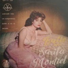 Disques de vinyle: SARITA MONTIEL. EP. SELLO GAMMA/ HISPAVOX. EDITADO EN MÉXICO. Lote 193934511