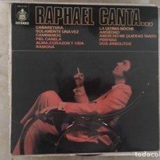 Discos de vinilo: RAPHAEL CANTA... CABARETERA. Lote 193936272
