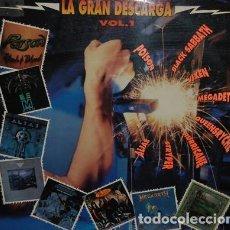Discos de vinilo: LA GRAN DESCARGA VOL. 1- POISON, MEGADETH, VIXEN, ALIAS ETC.. LP HISPAVOX 1990. Lote 193938365