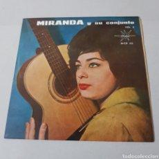 Discos de vinilo: MIRANDA Y SU CONJUNTO - MARFER - AQUELLOS OJOS VERDES - EL CUMBANCHERO - CHA CHA SULA - PA - RAN PAN. Lote 193947458