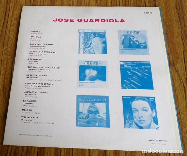 Discos de vinilo: JOSE GUARDIOLA -- Zíngara – palabras ….. - Foto 2 - 193949437