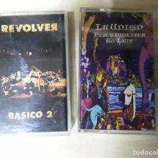 Discos de vinilo: 2 CINTAS DE CASETE DE REVÓLVER Y LA UNIÓN . Lote 193951171