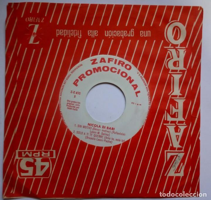NICOLA DI BARI - AMIGOS MIOS - EP PROMOCIONAL 1965 - ZAFIRO (Música - Discos de Vinilo - EPs - Canción Francesa e Italiana)