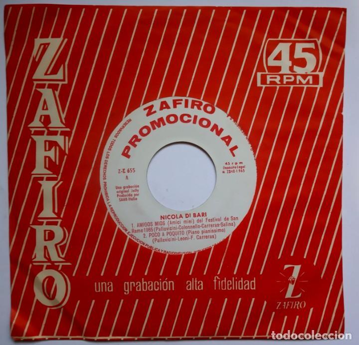 Discos de vinilo: NICOLA DI BARI - amigos mios - EP PROMOCIONAL 1965 - ZAFIRO - Foto 2 - 193958633