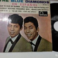 Discos de vinilo: EP-THE BLUE DIAMONDS-QUE TE DEJE DE QUERER-1964-SPAIN-. Lote 193963422