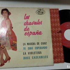 Discos de vinilo: EP-LOS CHAVALES DE ESPAÑA-LA MARCHA DE CADIZ-1969-SPAIN-. Lote 193965793