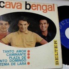 Discos de vinilo: EP-LOS CAVA BENGAL-TANTO AMOR-1966-SPAIN-. Lote 193966435