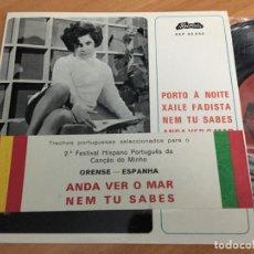 Discos de vinilo: NATERCIA MARIA Y RESENDE DIAS (PORTO A NOITE +3 ) EP PORTUGAL. DEDICADO POR RESENDE DIAS (EPI15). Lote 193967671