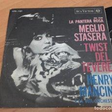 Discos de vinilo: HENRY MANCINI LA PANTERA ROSA (MEGLIO STASERA) SINGLE ITALIA (EPI15). Lote 193970357