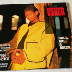 Discos de vinilo: USHER - CALL ME A MACK - 1993. Lote 193972781