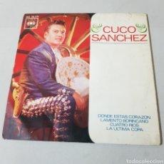 Discos de vinilo: CUCO SANCHEZ - DONDE ESTAS - LAMENTO BORINCANO - CUATRO RIOS - LA ULTIMA COPA. Lote 193975488
