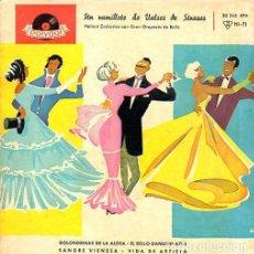 Discos de vinilo: HELMUT ZACHARIAS CON GRAN ORQUESTA DE BAILE - UN RAMILLETE DE VALSES DE STRAUSS - EP POLYDOR 20 243. Lote 193984746