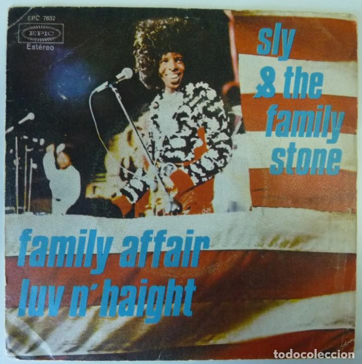 SLY & FAMILY STONE // FAMILY AFFAIR // 1971 // SINGLE (Música - Discos - Singles Vinilo - Funk, Soul y Black Music)